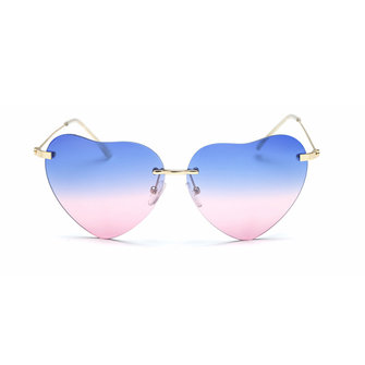 Woman Fashion Heart Shaped UV400 Sun Glassess Casual Outdooors Party Eyewear