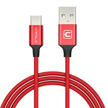 CAFELE Плетеный Type C Быстрая синхронизация данных Зарядный кабель 1,2 м для OnePlus 5 S8 Plus Xiaomi 6 HUAWEI P10