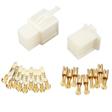 ABS Plastic Shell 9 Way 2.8mm Mini Connector Kit Blade Terminal Kits