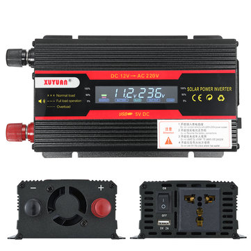 3000W Peak Power Inverter LCD Display DC 12/ 24V to AC 110V/220V Modified Sine Wave Converter