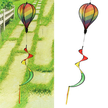 Striped Windsock Windmill Hot Rainbow Air Balloon Wind Spinner Garden Yard Camping Decor