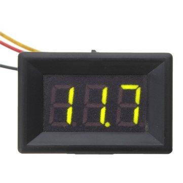 5pcs Green 0.36 Inch DC 0-30V 3 Wire LED Volt Meterr Digital Display Panel Volt Meterr