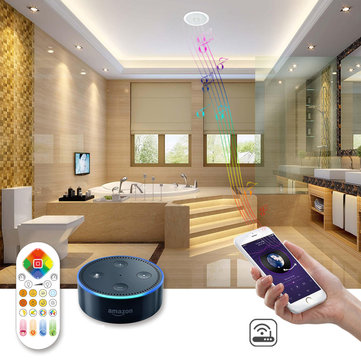 ARILUX® 24W RGBCCT Wifi Remote Voice Control Bluetooth Speaker LED Ceiling Down Light Support Alexa