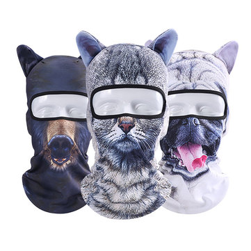 Men Unisex Cycling Bicycle Ski 3D Animal Neck Full Face Mask Hat Cosplay Christmas Party Cap Scarf
