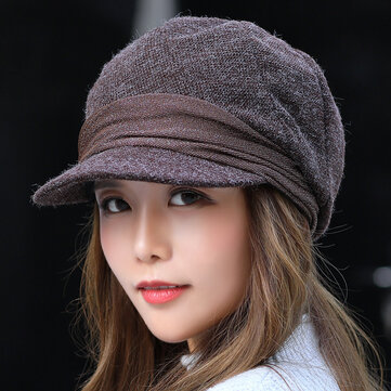 Womens Vogue Warm Earmuffs Beret Cap Bonnet Hat