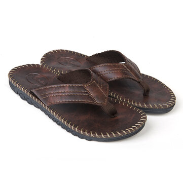Men Casual Anti-slip Slipper Summer Beach Flat Soft Comfortable Flip Flop Sandals Leisure Shoes