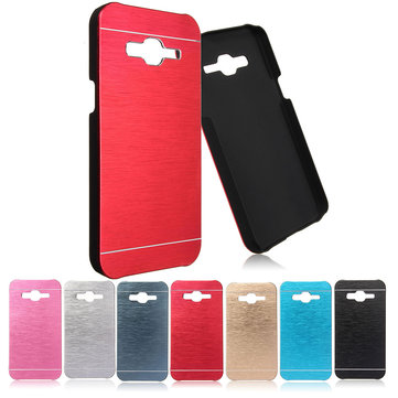 Luxury Ultra Slim Brushed Aluminum Metal Case Back Cover For Samsung Galaxy J2