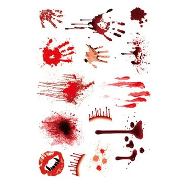 1pcs Halloween Palm Terror Horror Wounds Bloody Tattoo Sticker Body Makeup