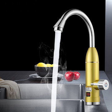 220V 3000W Instant Electric Tankless Cold/Hot Water Heater Shower System Tap Faucet Digital Display