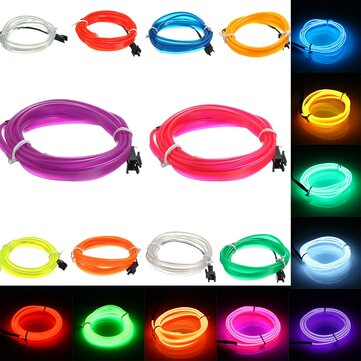 1M Led Flexible EL Wire Neon Glow Light Rope Strip 12V For Christmas Holiday Party