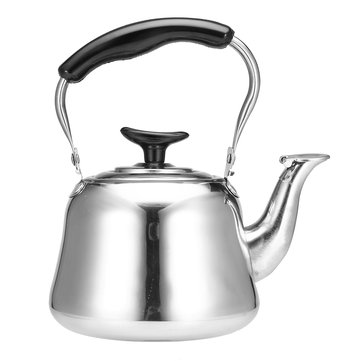 1L Stainless Steel Whistling Kettle Boiling Water Tea Coffee Maker Silver Water Boiler