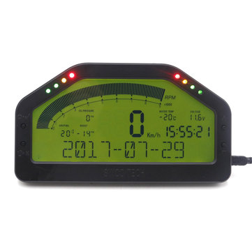 Dash Race LCD Display Full Sensor Kit Dashboard Screen Rally Gauge With Bluetooth Function