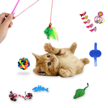 16pcs Cat Toys Cat Teases Tooth Grinding Toy Set Pet Toys
