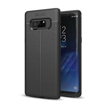 Bakeey™ Anti Fingerprint Soft TPU Litchi Leather Case Cover for Samsung Galaxy Note 8/S8/S8 Plus