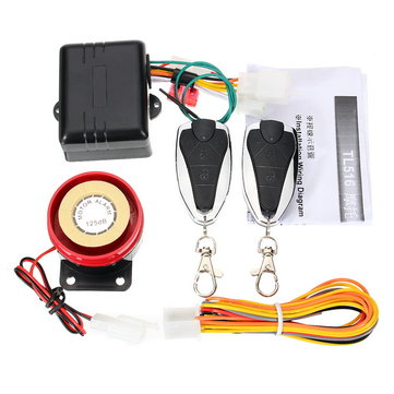 125dB 12V Motorcycle Alarm Lock Anti Theft Sensor Immobilizer With Intelligent Key Black