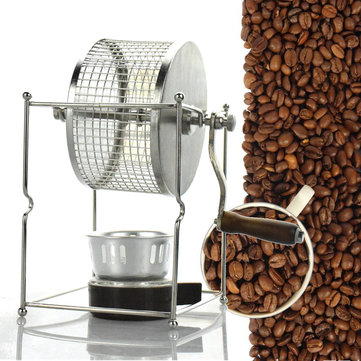 304 Stainless Steel Manual Coffee Bean Roasting Machine Roaster Roller Baker Kitchen Baking Tool