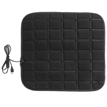 45*45cm Car Fiber Heated Seat Cushion Seat Warmer Winter Household Cover Electric Heating Mat