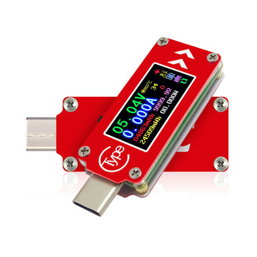 RUIDENG TC64 Color Screen PD Fast Charge Fast Test Type-C Voltage Ammeter Capacity Temperature Measurement Tester