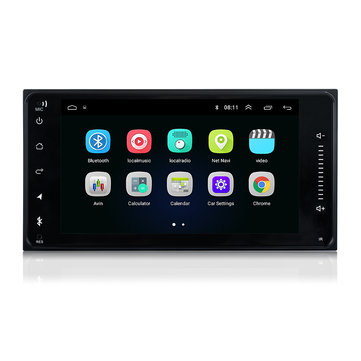 7 Inch 2 Din Android 8.0 Car DVD Player WIFI GPS Stereo Bluetooth Radio Indash For Toyota Corolla Hilux RAV4 ETC
