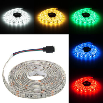 2M DC12V 28.8W 5050 Waterproof Red/Blue/Green/White/Warm White/RGB Flexible LED Strip Light
