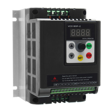 0.75KW 380V Variable Frequency Inverter Built-in PLC 3 Phase in 3 Phase Out Frequency Converter