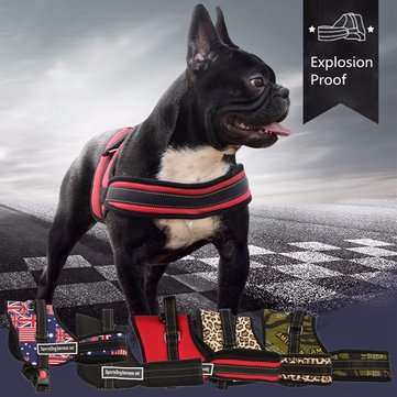 XS Size Adjustable Soft Padded Non Pull Pet Dog Puppy Harness Chest Vest Safety