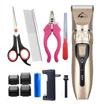 Electric Pet Dog Cat Hair Grooming Trimmer Razor Shaver NailLow noise Clipper