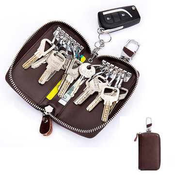 Men Women Genuine Leather Retro Pure Car Key Holder Card Holder Key Bag Keychain Wallet