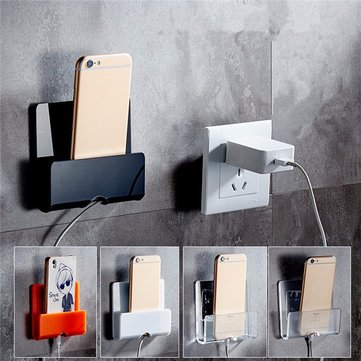 Wall Charging Holder Adhesive Phone Stand Durable Charger Mount for iPhone iPad Samsung Xiaomi Sony