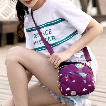 Women Galaxy Pattern Nylon Waterproof Shell Bags Shoulder Bag Crossbody Bags