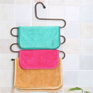 S Type Pants Trousers Hanger Multi Layers Stainless Steel Clothing Towel Storage Rack Closet Space S