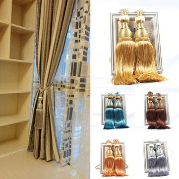 2Pcs Tassel Rope Window Curtain Tie Backs Buckles Tie Backs Holdbacks Pendant Window Decor