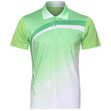 Mens Quick Drying Badminton Competitions Training Suit Summer Sports Tops