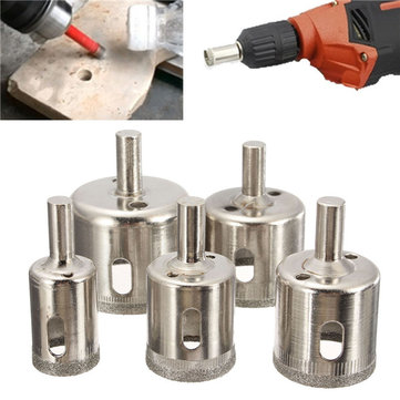 5pcs 20-42mm Diamond Hole Saw Drill Bit Set for Tile Glass Marble Granite Cutting