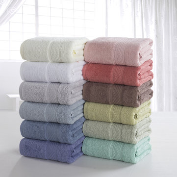 KCASA KC-X1 70cmx140cm 100% Cotton Solid Bath Towel Beach Towel For Adults Fast Drying Soft 12 Colors Thick High Absorbent Antibacterial Towel