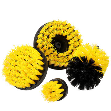 4Pcs Grout Power Scrubber Cleaning Brush Electric Drill Brush Tub Cleaner Combo Tool Set