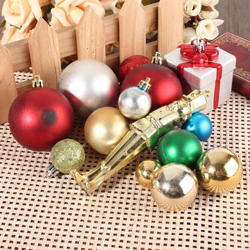 Multi-Color Christmas Xmas Tree Baubles Pendant Set Home Wedding Decorations DIY