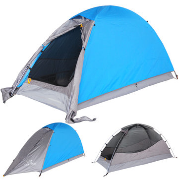 Trackman TM120601 Camping Tent Double Layers Windproof Waterproof 1-2 person Outdoor Picnic Tents