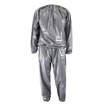 Unisex PVC Sweat Sauna Suit Cloth Lose Weight Slimming Fitness