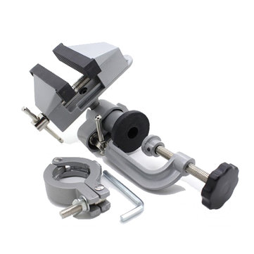 Heavy Duty Universal Table Vise with Drill Clamp
