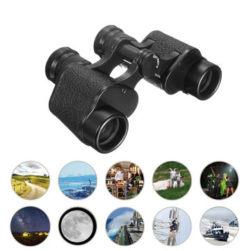 IPRee 6X24 Portable Waterproof Day&Night Vision Binocular Telescope with BAK4 Leather Bag