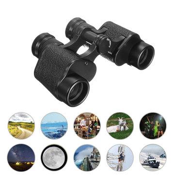 IPRee 6X24 Портативный Водонепроницаемы Бинокулярный телескоп дневного и ночного видения с BAK4 Кожа Сумка