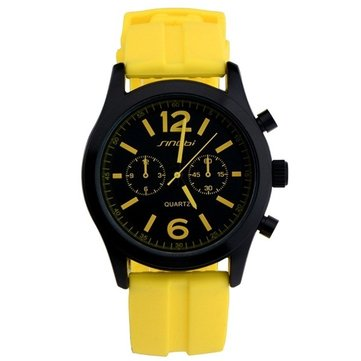 SINOBI 9269 Fashion Sport Watch Silicon Band Casual Men Women Analog Quartz Watch