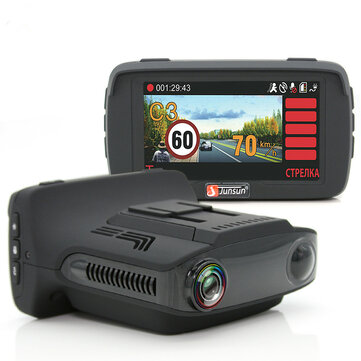 Junsun L2 Ambarella A7 Car DVR Camera Radar Detector GPS 3 in 1 LDWS Video Recorder Russian Language