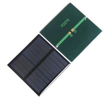 Portable Mini 0.7W 5V 70*70mm DIY Solar Charger Solar Panel