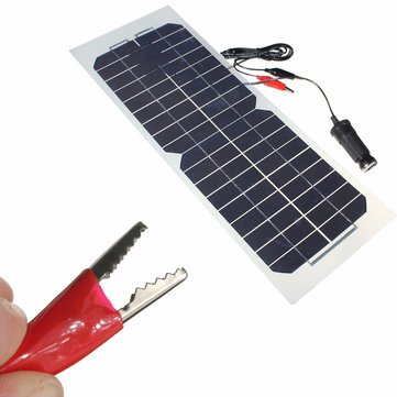 18V 10W 490x180mm Semi Flexible Monocrystalline Silicone Solar Panel Battery Charger