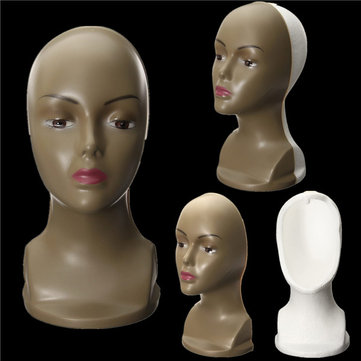 Foam Mannequin Head Wig Display Holder Manikin Styrofoam Female Model