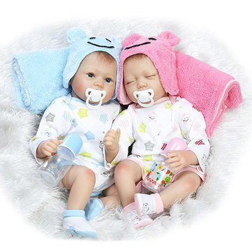 22inch Twins Reborn Baby Doll Lifelike Boy Girl Play House Toy
