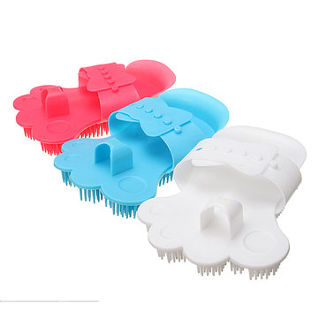 Pet Dog Cat Bath Brush Hair Fur Deshedding Cleaning Grooming Massage Comb Wash Tool