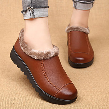 Plus Size Slip On Casual Comfortable Fur Snow Boots